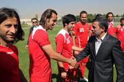 عکس | پاسخ تند علی کریمی به اظهارات محمود احمدینژاد