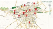 وضعیت هوای تهران بدتر شد | برخی مناطق در آستانه هشدار | درخانه بمانید | کیفیت هوای مناطق مختلف پایتخت از روی نقشه