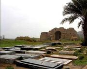 کاخ جهانی اردشیر ساسانی در محاصره مزارها