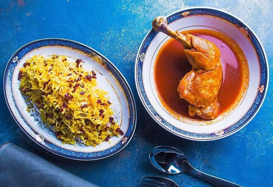 زرشک پلو - آشپزی - غذا - تغذیه - غذای ایرانی - زرشکپلو با مرغ
