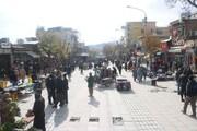 پایان فعالیت روزانه دستفروشان در پیادهراه فردوسی سنندج