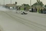 ویدئو   لحظه عجیب برخورد دو موتور در بوشهر