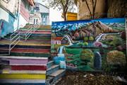 تصاویر | زیباسازی و نقاشی روی دیوارهای شهر سنندج