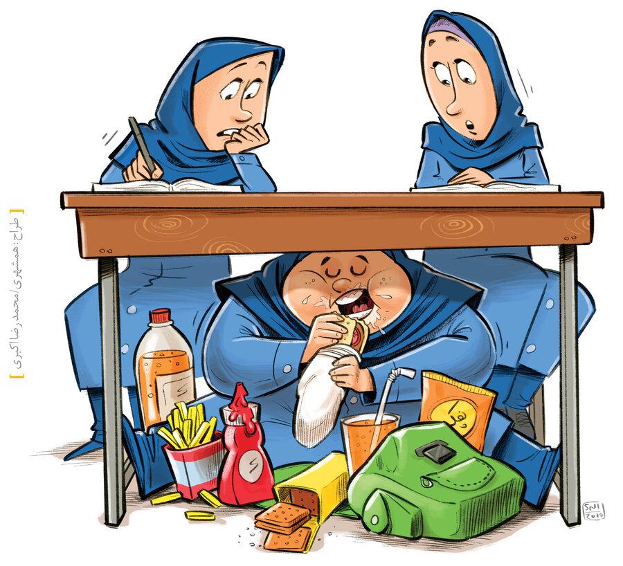 چاقی دانش آموز