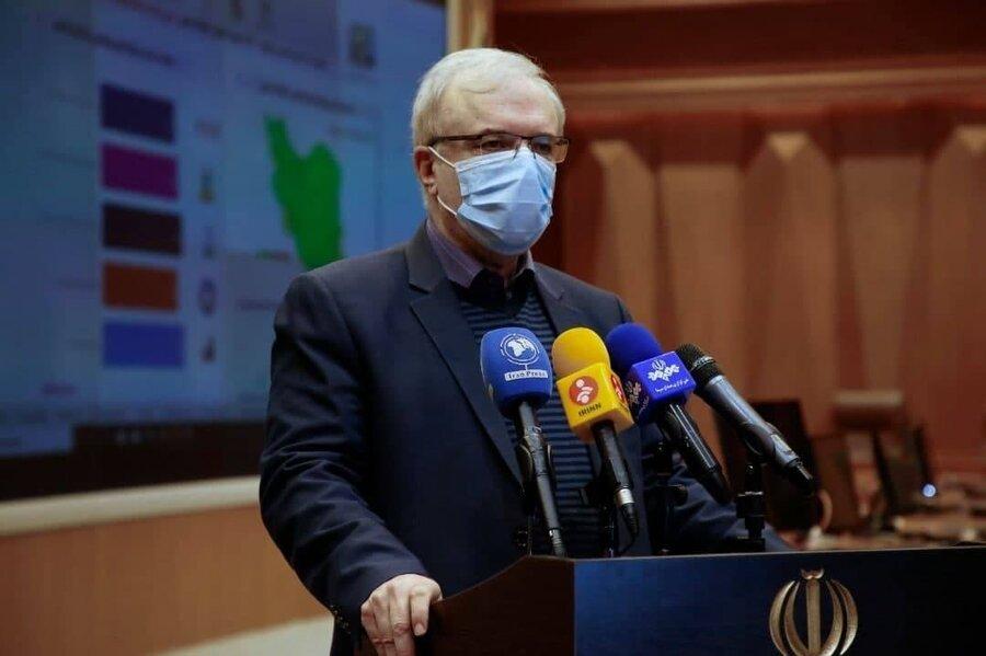 نمکی: مردم کشورهای قدرتمند با کرونا قتل عام میشوند اما مرگومیر در ایران به ۸۰ نفر رسید | احتمال بازگشت موج سنگین کووید-۱۹