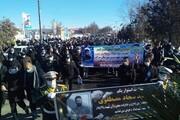 تشییع پیکر شهید مدافع امنیت در سراب