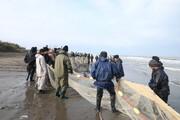 تصاویر | صید ماهی در ساحل بخش دستک آستانه اشرفیه