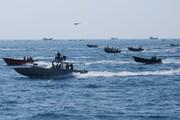 رزمایش شناوری بسیج دریایی نزدیک جزیره فارسی برگزار شد