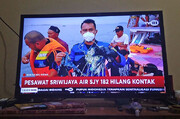 تصاویر | هواپیمای مسافربری اندونزی با ۶۰ سرنشین ناپدید شد