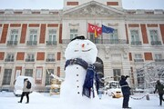 تصاویر | زور کرونا به برف مادرید نرسید | تفریح زمستانی پایتختنشینان