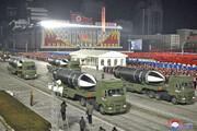 تصاویر | رونمایی از قویترین سلاح جهان در رژه نظامی ارتش کره شمالی