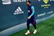 عکس | خبر خوب برای بارسا | مسی آماده فینال شد