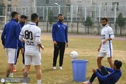 تصاویر | تمرین آبیپوشان پایتخت با چالشتوپ و سطل!