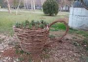 ساخت «گلجای» از سرشاخههای هرس شده درختان