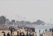 ویدئو | حجم انبوه مسافران در سواحل هرمزگان پیش به سوی کرونا | ورود ۴۰ هزار مسافر به قشم و هرمز در تعطیلات اخیر