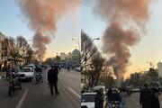 عکس | حریق گسترده در شوش در سالگرد پلاسکو | مشاهده دود غلیظ در آسمان جنوب تهران