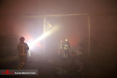 آتش سوزی گسترده در شوش