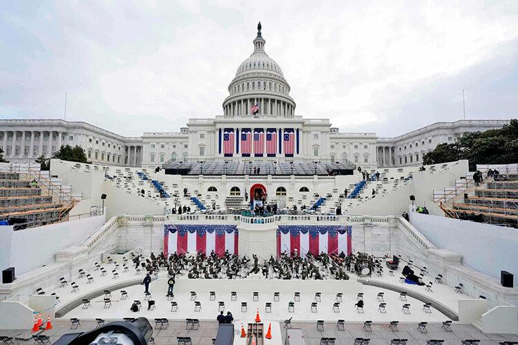 عکس روز | کنگره آماده تحلیف شماره ۵۹ برای رئیس جمهوری شماره ۴۶