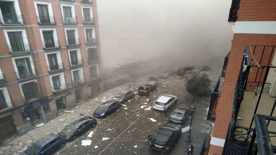 وقوع انفجار مهیب در پایتخت اسپانیا+ فیلم