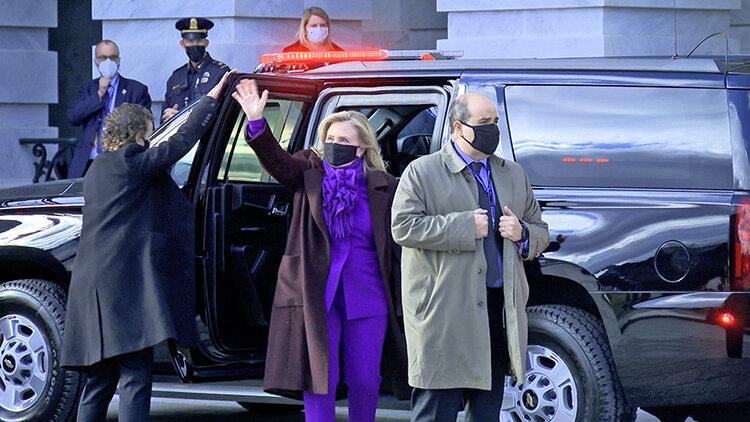 هيلاري كلينتن در مراسم تحليف بايدن