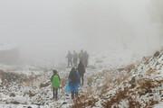 نجات کوهنورد گرفتار در ارتفاعات برفی بیرجند