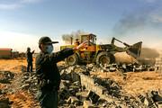 تصاویر | تخریب ویلاهای غیرمجاز در نزدیکی مشهد