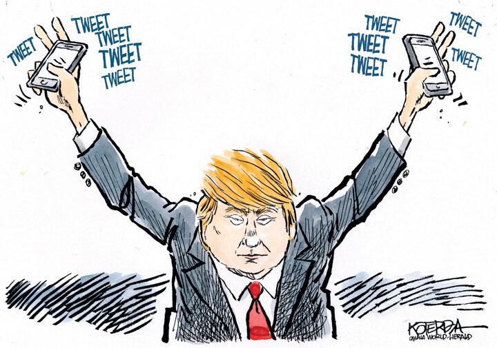 ترامپ+ بایدن= کاریکاتور جهانی