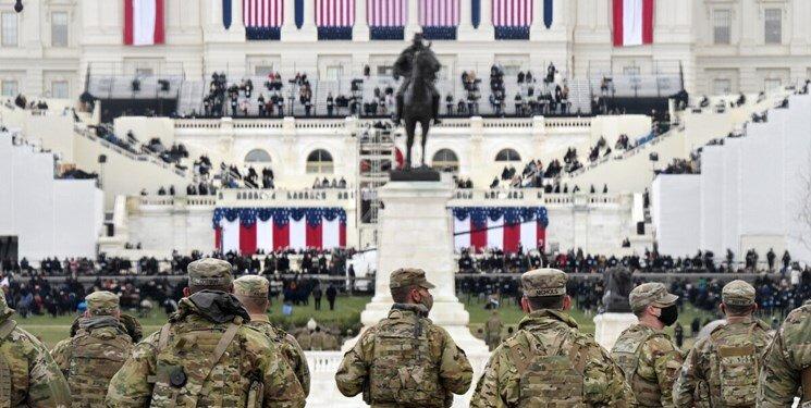 نظامیان آمریکایی در تحلیف بایدن