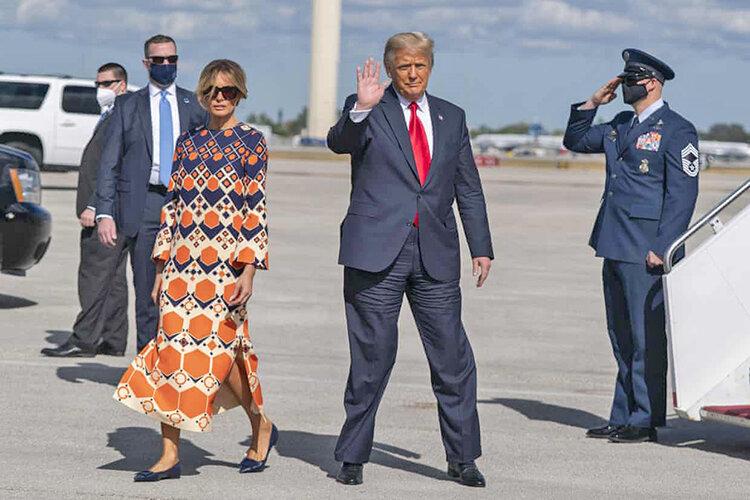 ملانيا ترامپ و دانلد ترامپ