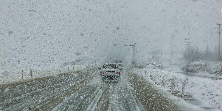 بارش برف - جاده