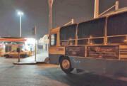 گرمخانه اتوبوسی در آزادی