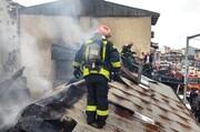 آتش سوزی در خیابان بیستون رشت
