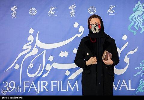 گلاره عباسی بازیگر فیلم «ابلق» در سی و نهمین جشنواره فیلم فجر