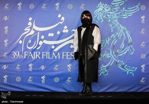 الناز شاکردوست بازیگر فیلم «ابلق» در سی و نهمین جشنواره فیلم فجر