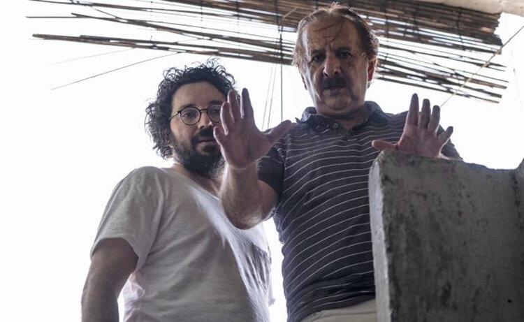 مجيد مجيدي و هومن بهمنش در پشت صحنه خورشيد