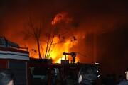 چهار مجروح در آتشسوزی بزرگترین بازارچه مهاباد