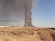 آتش سوزی گسترده گمرک افغانستان در جوار مرز دوغارون