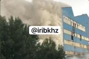 ویدئو | آتشسوزی در کارخانه کشت و صنعت نیشکر هفتتپه