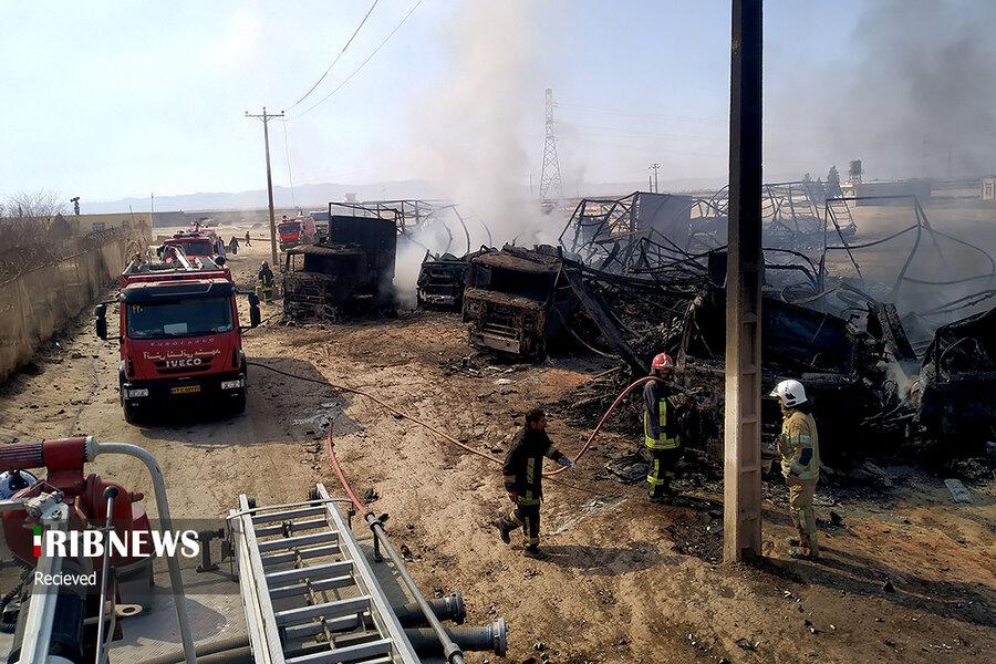 گمرک اسلام قلعه ۲۴ ساعت پس از انفجار