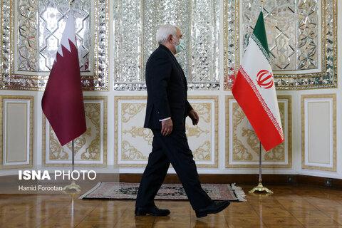 دیدار ظریف با وزیرخارجه قطر