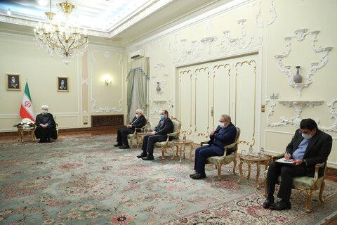 دیدار وزیر خارجه قطر با روحانی