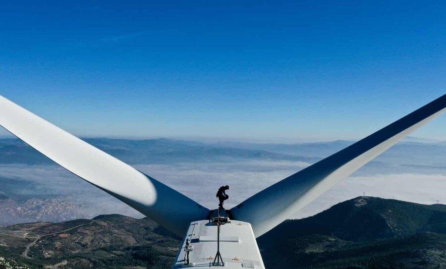 عکس روز| توربین بادی در ترکیه
