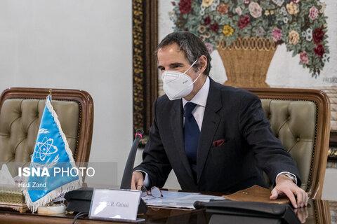 دیدار رافائل گروسی و صالحی
