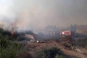 مهار آتشسوزی در نخلستان صیدوایه آبادان