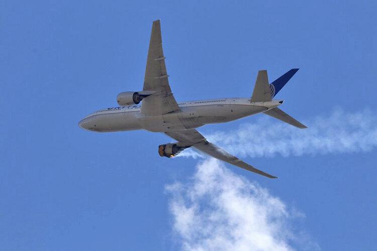 انفجار موتور بويينگ 777 در دنور