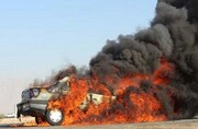 ۳ کشته بر اثر آتشسوزی خودروی سواری در گناباد