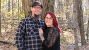 تصاویر | لباس عجیبی که زوج آمریکایی در جشن نامزدیشان پوشیدند