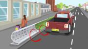 محافظت از مردم در برابر آلودگی هوا با یک مانع در خیابان!