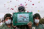تشییع پیکر خلبان شهید بیکمحمدی در پایگاه سوم شکاری شهید نوژه