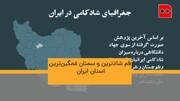 موشنگرافیک | قم شادترین و سمنان غمگینترین استان ایران